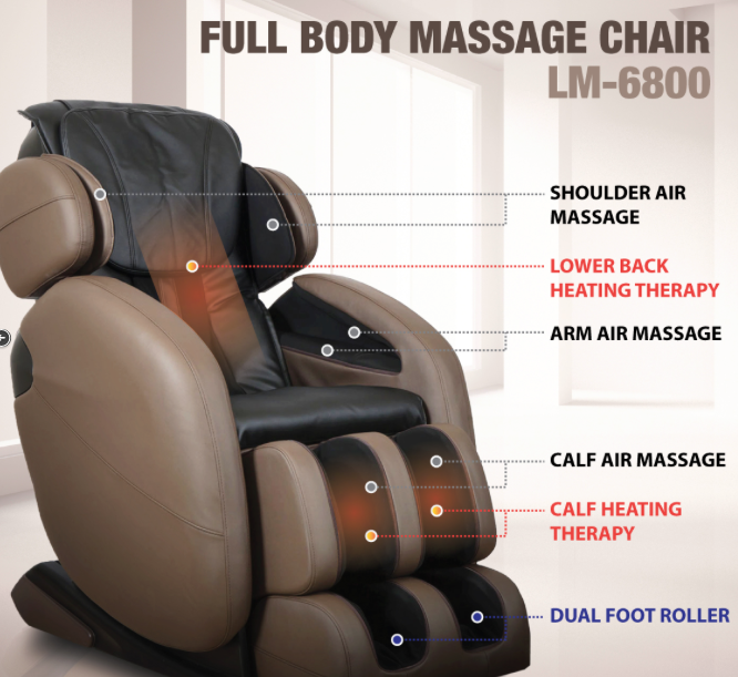 Specifications of full body massage recliner