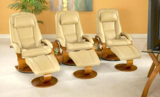 3 ergonomic Reclining Chairs