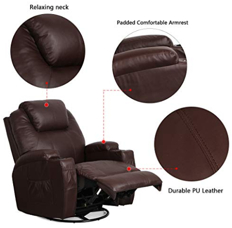 Feature of best massage recliner