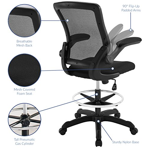 Feature of Modway Veer Drafting Chair