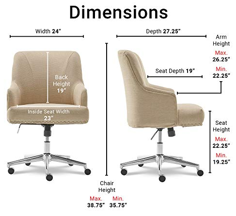 Serta Leighton Home Office Chair Dimentions and specification