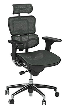 High Back chair with headrest and lower back support