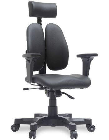 Dourest Gold Leather Ergonomic Office Chair