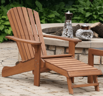 Outdoor Interiors Eucalyptus Chair with Footrest