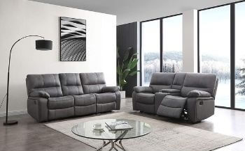 Betsy Furniture Microfiber Reclining Sofa Couch