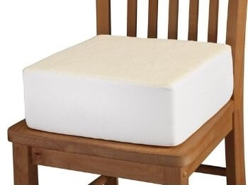 Extra-Thick Foam Chair Cushion after Hip Replacement