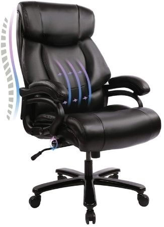 Big & Tall 400lb Office Chair for Tailbone Support