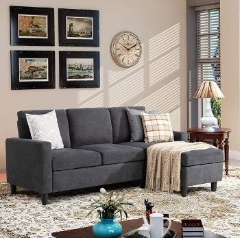 Walsunny Convertible Sofa Couch